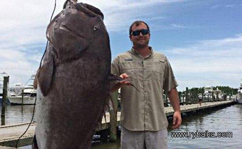 Трофейный улов американского рыбака