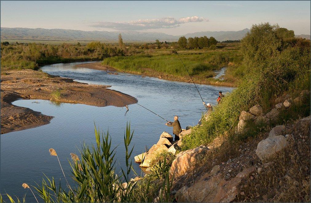 Отличная рыбалка в Бишкеке