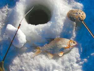 ловля зимой на озере