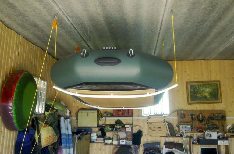 Хранение лодки ПВХ в гараже зимой