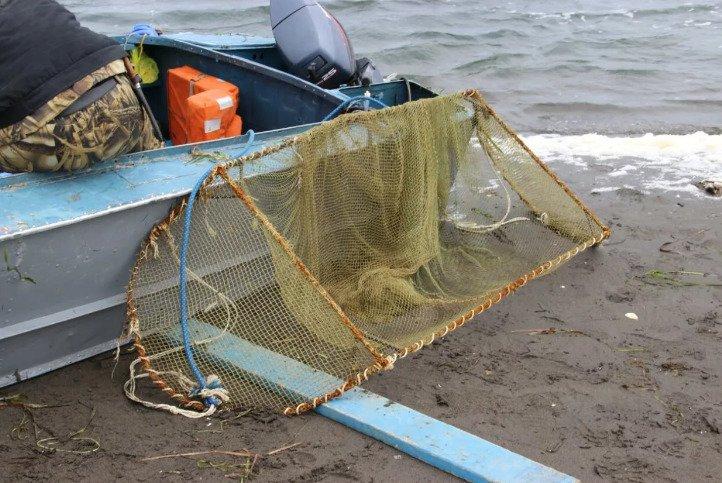 Ловля рыболовной наметкой